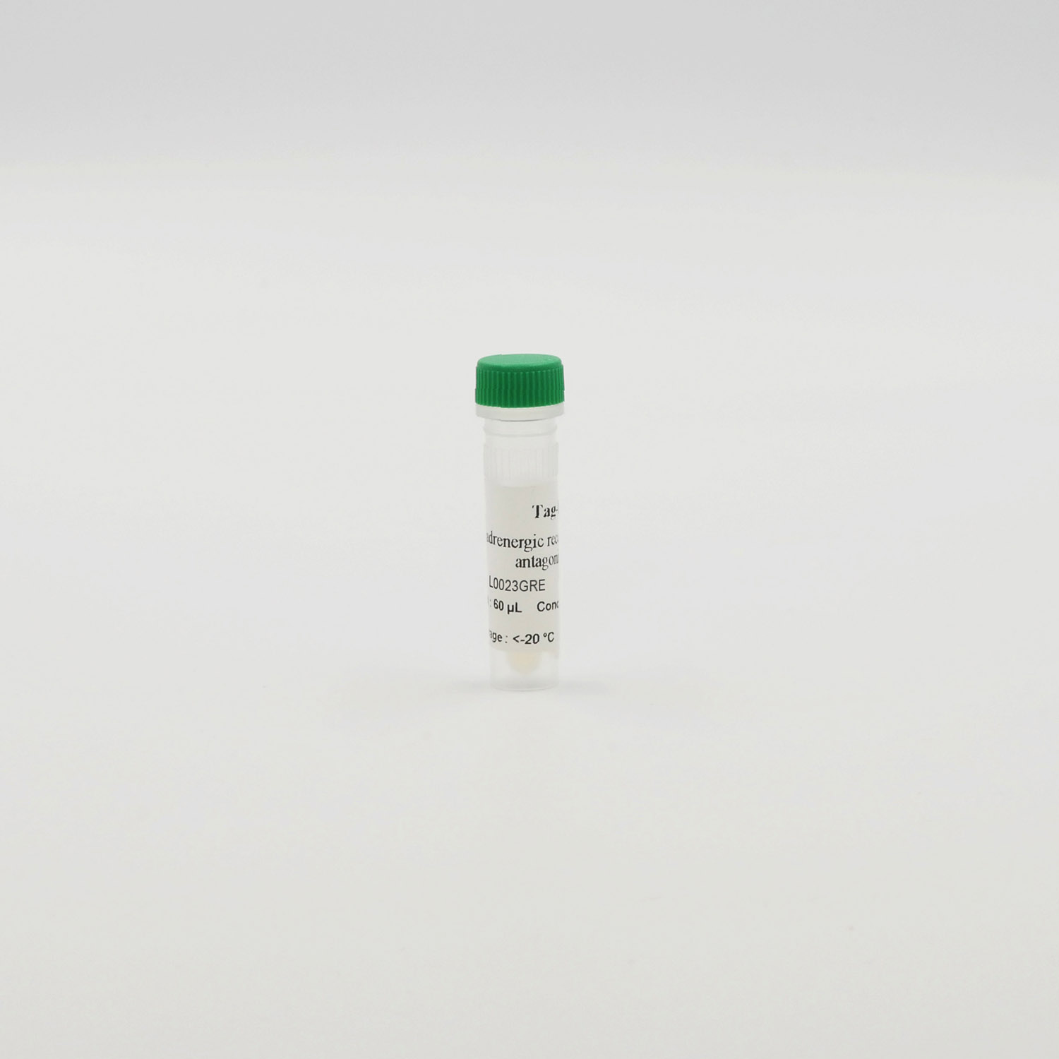 Photography of Beta1 adrenergic receptor green antagonist vial